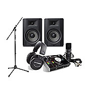 M-Audio M-Track 2x2 Vocal Studio Pack, M-Audio BX5D3 Studio Monitors & Mic Stand