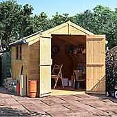BillyOh Master Tongue and Groove Apex Wooden Garden Shed - 10 x 8 Windowed