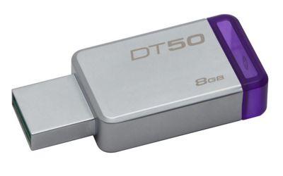 Kingston DataTraveler 50 8GB USB 3.0 Flash Drive - Purple