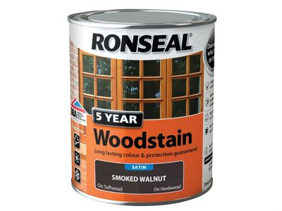 Ronseal 5 Year Woodstain Smoked Walnut 750ml