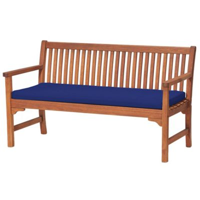 Blue 3 Seater Garden Bench / Swing Seat Cushion Pad Outdoor