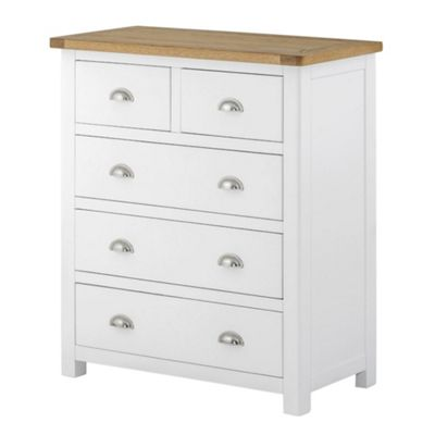 Padstow White Painted 2 over 3 Chest Of Drawers