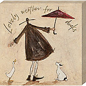 Sam Toft Lovely Weather for Ducks Canvas Print