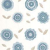 Superfresco Radiance Teal Floral Wallpaper