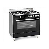 Montpellier MR90GOK 90cm Gas Range Cooker in Black