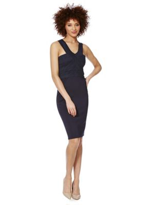 AX Paris Bandage Pencil Dress 10 Navy