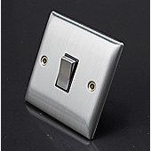 Lyvia Venetian Light Switch S/S 2W SW - Black Insert 10A