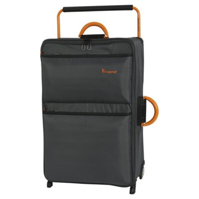 it luggage Worlds Lightest Large 2 Wheel Dark Shadow/Orange Suitcase