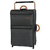 it luggage Worlds Lightest 2 Wheel Dark Shadow/Orange Large Suitcase