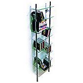 Maxwell - Wall Mounted Glass Cd / Dvd / Bathroom Storage Shelf - Clear