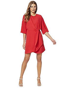 F&F Tie Front Dress - Red