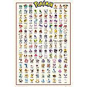 Pokemon Kanto 151 PKMN Poster 61x91.5cm
