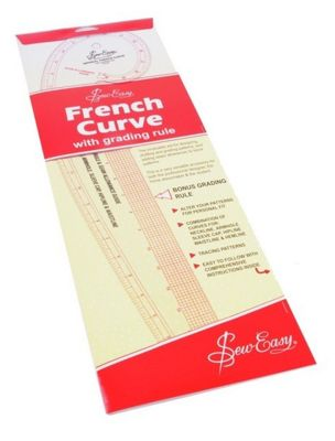 Sew Easy French Curve (Imperial Measurements)
