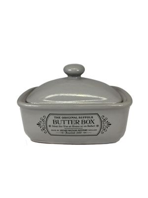 Henry Watson Original Suffolk Butter Dish with Lid in Dove Grey