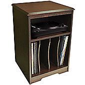 Audio - Turntable / Lp Record / Vinyl Storage Side End Table - Walnut