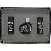 Diesel Only The Brave Tattoo Gift Set 50ml EDT + 2 x 50ml Shower Gel For Men