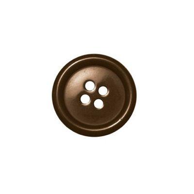 Hemline Four Hole Brown Buttons 22.5mm 4pk