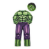 Marvel Avengers The Incredible Hulk Glow in the Dark Fancy Dress Costume - Green