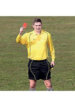 Precision Referees Long Sleeve Shirt Yellow/Black - Black & Yellow