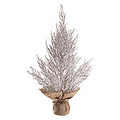 53cm Frosted Burlap Twig Christmas Tree