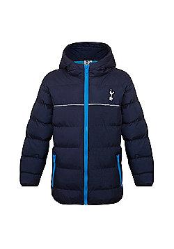 Tottenham Hotspur FC Boys Quilted Jacket - Navy