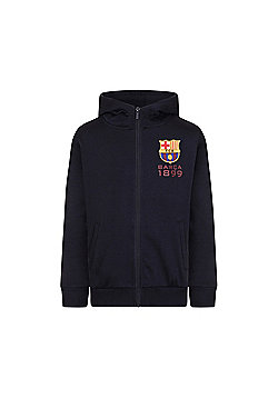 FC Barcelona Boys Zip Hoody - Navy blue