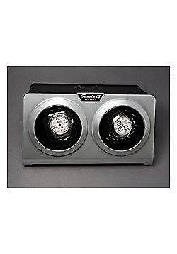 Time Tutelary Automatic Double Watch Winder Silver Black KA002