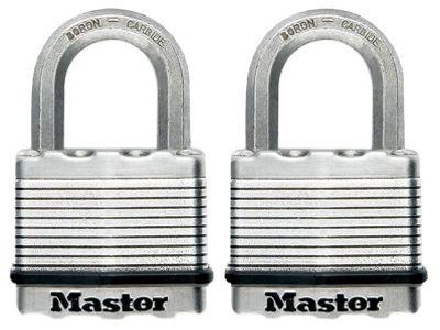 Master Lock M5EURT Excell 50mm Laminated Padlocks Keyed Alike (Twin Pack)