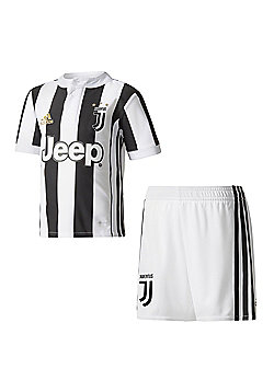 adidas Juventus 2017/18 Kids Junior Mini Home Kit White/Black - 2-3 Years