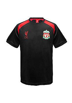Liverpool FC Boys Poly T-Shirt - Black