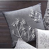 Dreams n Drapes Hanworth Charcoal Cushion Cover 43x43cm