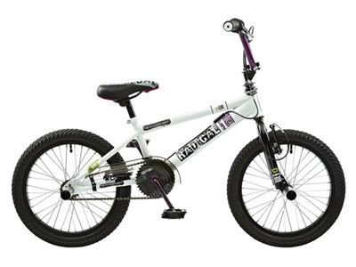 Rooster Radical 18 BMX Bike White/Purple with 18