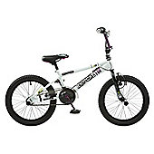 "Rooster Radical 18 BMX Bike White/Purple with 18"" Spoke Wheels"