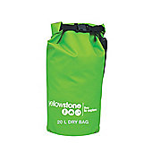 20 Litre PVC Waterproof Dry Bag Green / Keep kit dry, safe and 100% waterproof