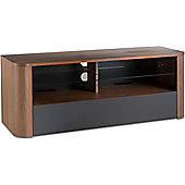 Alphason Hugo 1260 TV Stand for TVs up to 60 inch - Walnut and Graphite