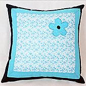 Blue Flower Cotton Children's Cushion
