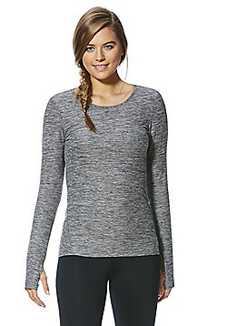 F&F Active Long Sleeve T-Shirt - Grey