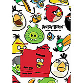 Angry Birds 2 Sheets of Giftwrap and 2 Gift Tags