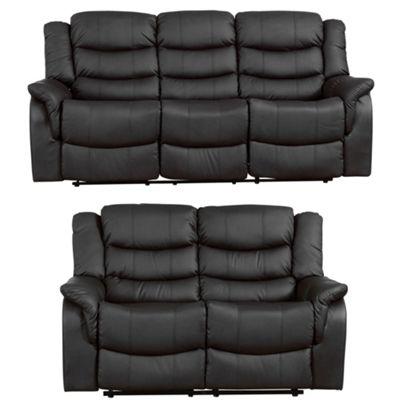 Sofa Collection Victoria 3+2 Recliner Sofas - Black