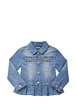 F&F Frill Hem Denim Jacket - Denim blue