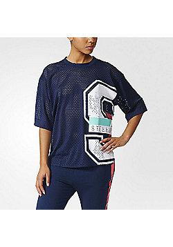 adidas Stella McCartney Womens Stellaport Mesh Collegiate T-Shirt - Multi