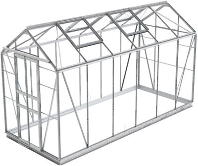Simplicity Stafford Plain Aluminium 5x12 Greenhouse With Horticultural glass