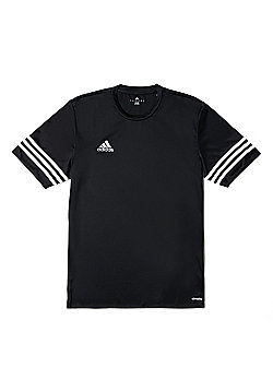adidas Entrada 14 Short Sleeve Kids Football Training T-Shirt Black - M