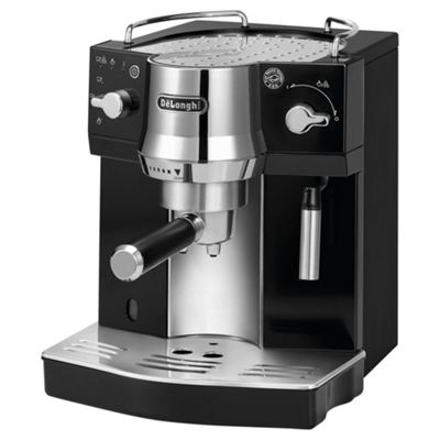 DeLonghi EC820.B Pump Espresso Coffee Machine, Black/Silver