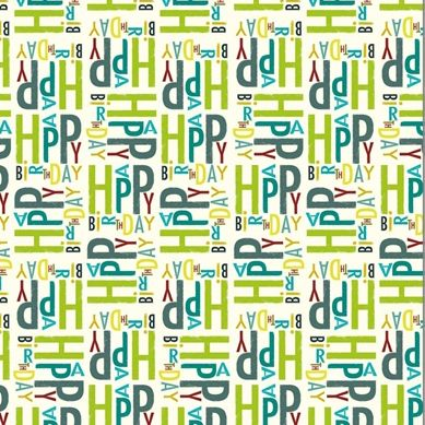 Ink Press Wrap - Happy Birthday