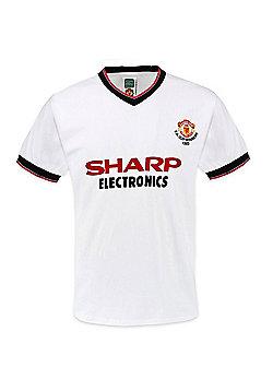 Manchester United FC Mens 1983 FA Cup Winners Retro Shirt - White