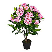 Homescapes Pink Hydrangea Artificial Plant with Pot, 85 cm