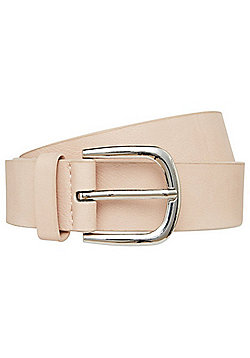 F&F Faux Leather Belt - Nude pink