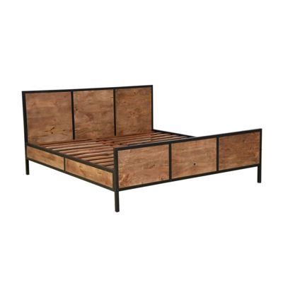 Homescapes Reclaimed Wood Super King Bed Frame Industrial Furniture Range