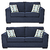 Boston 2.5-Seater + 3 Seater Sofa Set, Navy